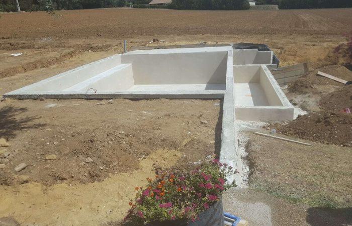 piscine monobloc enduit bassin