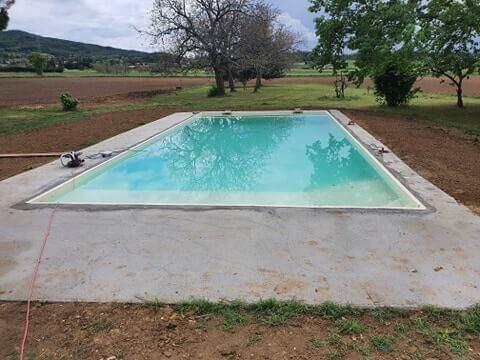 piscine monobloc 11x5 pvc armé sable