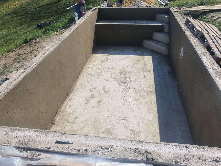 piscine traditionnelle enduit étancheité
