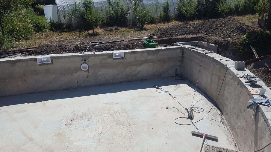 rénovation piscine création d'un bassin