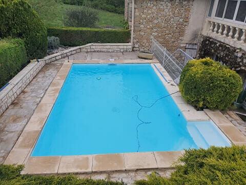 rénovation piscine en eau
